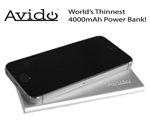 Avido World's Thinnest 4000mAh Power Bank