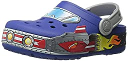 crocs Boys Galactic Light-Up Clog (Toddler/Little Kid), Cerulean Blue, 10 M US Toddler