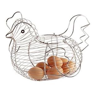 Kitchen Craft Chrome Plated Wire Large Chicken Basket 30cm x 25cm