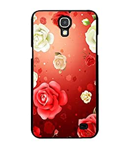Fuson Premium 2D Back Case Cover Red Roses With black Background Degined For Samsung Galaxy Mega 2 SM-G750H