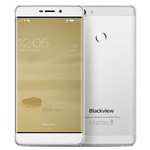 Neues Smartphone, Blackview R7, 5,5 Zoll MT6755 8 Core 2,0 GHz RAM 4GB + ROM32GB, Android 6.0-Smartphone(Silber)