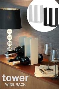 Yamazaki Tower Wine Rack Bottle Holder Organizer Display Decor