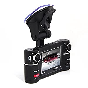 16:9 Wide Screen With USB/TF Slot(Up to 32GB) Dual-Lens 2.7 Inch Dual-Camera DVR Car Driving Camcorder Car Vehicle Blackbox DVR, Two Dual Lens Rotatable for Wide Viewing Angle, Built-in 8 IR Lights for Better Night Vision