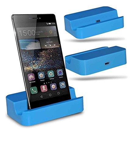 Huawei P8 Station d'accueil de bureau avec chargeur Micro USB support de chargement - Blue - By Gadget Giant®