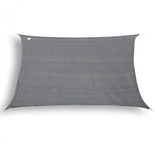 marken sonnensegel sonnenschutz rechteck 2x4 m graphit. Black Bedroom Furniture Sets. Home Design Ideas
