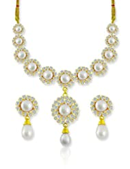 SV Jewels & Pearls White Dildar Pearl Set for women