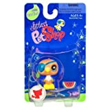 Littlest Pet Shop Sportiest Single Figure Parrot With Eye Patch And Watermelon