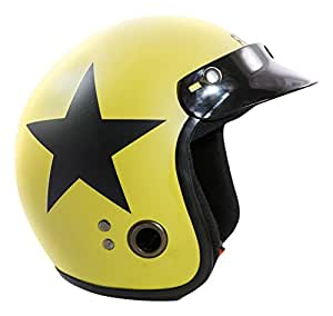 Autofy Habsolite Ecco Star Front Open Helmet (Desert Storm and Black, M)
