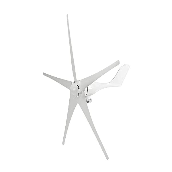 IRONWALLS Wind Turbine Windmill Power Generator Kit 500W DC 12V 5 Blade with Controller White for Home Business Industrial Energy (Color: White, Tamaño: 500W 12V)