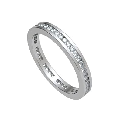 0.40ct G/SI1 Diamond Full Eternity Ring for Women with Round Brilliant cut diamonds in 18ct White Gold