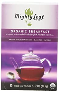 Mighty Leaf Tea, Organic Breakfast, Whole Leaf Pouches, 1.32 Ounce, 15 Count by Mighty Leaf Tea
