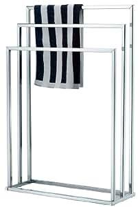 Free Standing Chrome 3 Bar Towel Rail Rack Holder