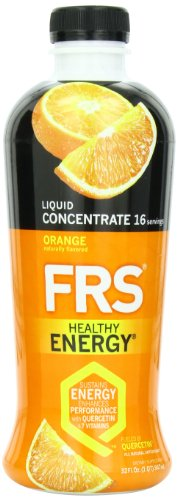 FRS Healthy Energy Liquid Concentrate, Orange, 32-Ounce Bottle
