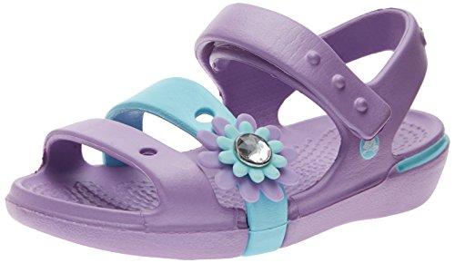 crocs-keeley-petal-sandal-tira-de-tobillo-de-material-sintetico-nina-color-violeta-talla-24-25