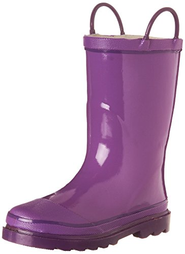 Western Chief Kids Solid Firechief Rain Boot(Toddler/Little Kid/Big Kid), Grape, 9 M US Toddler (Kid Rain Boots compare prices)
