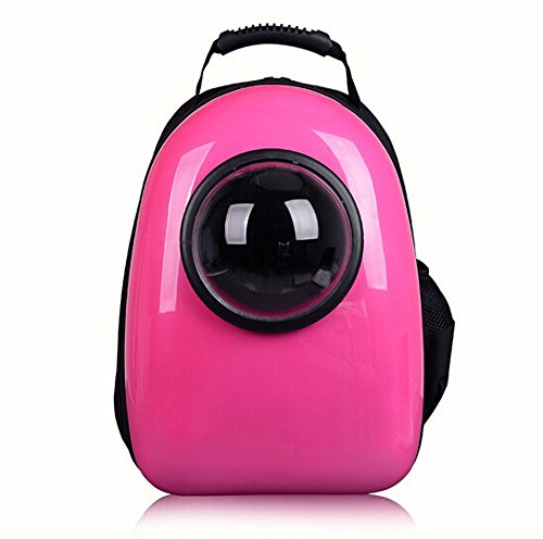 Fashion Shop Innovative Patent Bubble Traveler Pet Carriers for Cats and dogs Both the Meash and Bubble Cover (RoseRed)