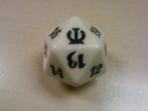 MTG Spindown D20 Life Counter - Theros White
