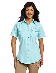 Columbia Women's Bonehead Short Sleeve Shirt, X-Small, Clear Blue