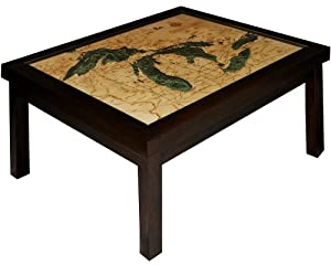 Great Lakes 3 D Wood Nautical Chart Coffee Table 34 X 27 5 Kitchen Home