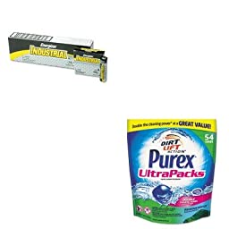 KITDPR00350EVEEN91 - Value Kit - Purex Ultrapacks Liquid Laundry Detergent (DPR00350) and Energizer Industrial Alkaline Batteries (EVEEN91)