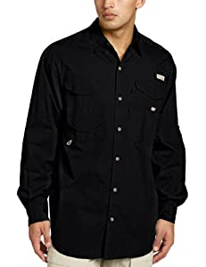 Columbia Men's Bonehead Long Sleeve Fishing Shirt (Black, 1X)