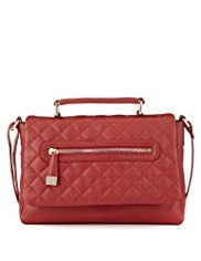 M&S Collection Leather Quilted Cross-Body Bag