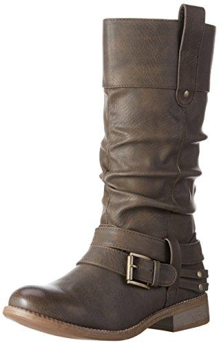 Rieker 95678 - Stivali Alti da Donna, colore Marrone (schoko / 25), taglia 39 EU