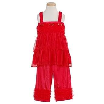 : Laura Dare Baby Toddler Girls Red Size 6M-6X Pajamas Sleepwear Set