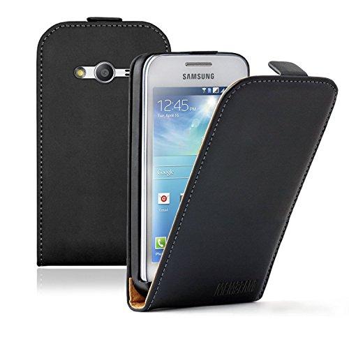 Membrane - Ultra Slim Noir Etui Coque Samsung Galaxy Ace 4 (SM-G357 / G357FZ) - Flip Case Cover Housse