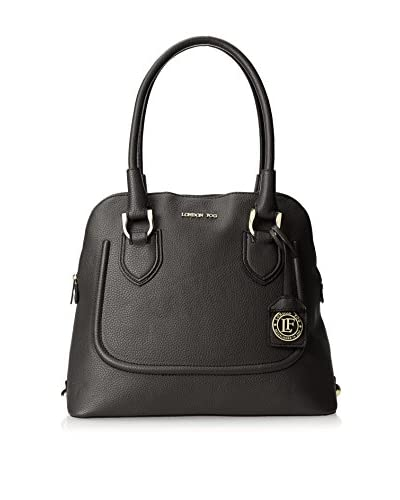 London Fog Women's Suffolk Satchel, Black As You See