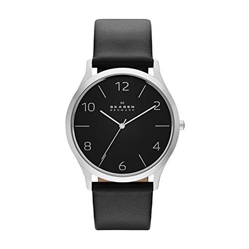 Skagen - SKW6152 - Montre Homme - Quartz - Analogique - Bracelet Cuir Noir