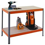 RAC Professional Garage workbench, 2 Levels, 900h x 1205w x 605d mm, 300kg UDL