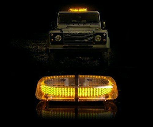 Zento Deals New Bright Amber 240-LED Strobe Light Warning Emergency Flashing Car Truck Construction Car Vehicle Safety w/ Magnetic Base (Flash Back For Rear Bumper compare prices)