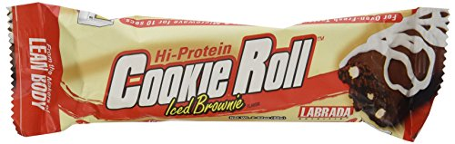 Labrada Nutrition Lean Body Cookie Roll Bar, Iced Brownie, 2.82. oz. each, 12-Count Box