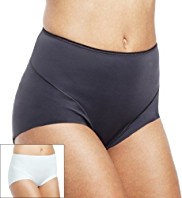 2 Pack Light Control No VPL High Rise Plain Full Briefs