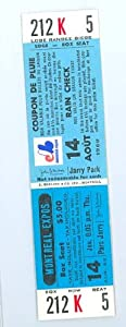 1969 BB Ticket Expos vs Reds at Jarry Park - Full Ticket August 14 Montreal Expos... by Sports+Tickets