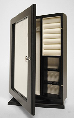 New View Table-Top Rotating Jewelry Cabinet w/ Mirror and Photo Holder (01-ME-94998) (Cabinet Tabletop compare prices)