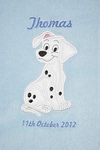 101 Dalmatians Luxury Personalised Disney Applique Super Soft Fleece Baby Blanket