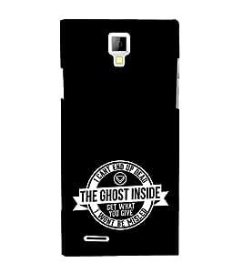 EPICCASE black ghost Mobile Back Case Cover For Micromax Canvas Xpress A99 (Designer Case)