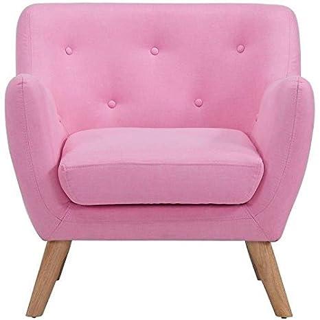 Scandi fauteuil design scandinave rose