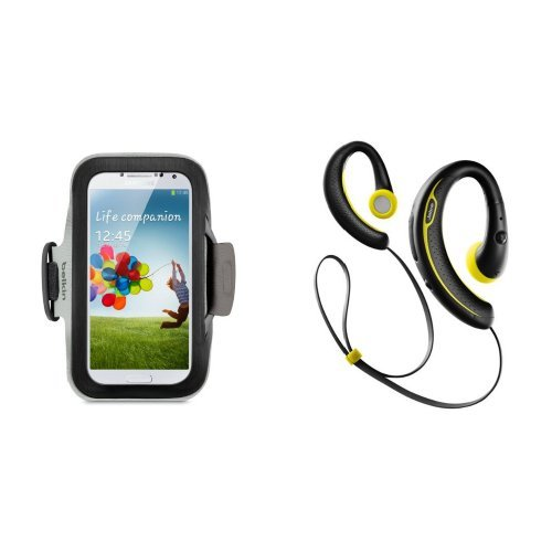 Smartphone Workout Bundle: Belkin Sports Armband Case For Samsung Galaxy S4 With Jabra Sport+ Bluetooth Headphones