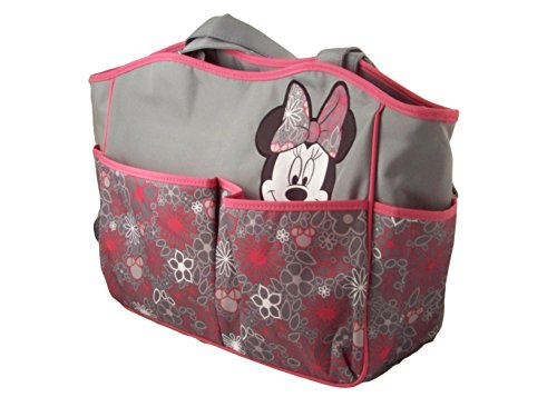 Disneys Minnie Mouse Large Diaper Bag Tote with Floral Patterns, db30197 - 1