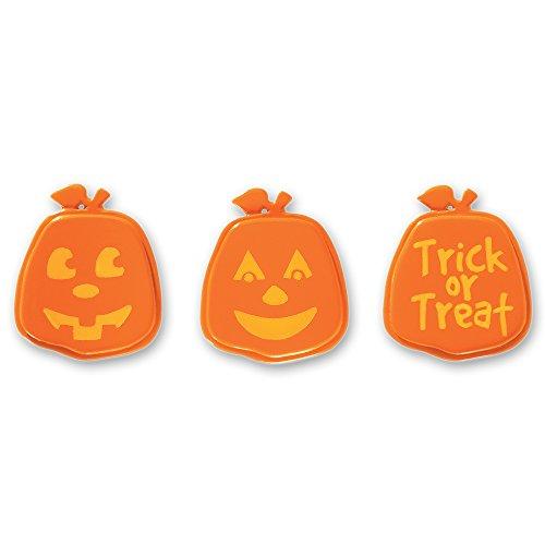 DecoPac Pumpkin Faces Cupcake Rings (12 Count) - 1