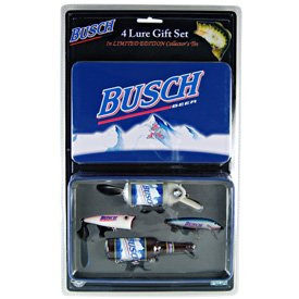 Busch Beer Fishing Lures With Collectible Tin from Rivers Edge Products