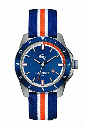 Lacoste 2010700 Blue Dial Leather Mens Watch