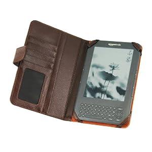 TeckNet® Kindle Keyboard Premium Folio Case / Cover for Amazon Kindle Keyboard / Kindle 3 - Brown