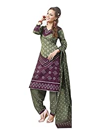 AASRI Party Wear Pure Cotton 3 Piece Unstitched Salwar Suit - B00TIJ0AJK