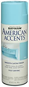 Rust-Oleum 223610 American Accents Spray, Satin Aqua, 12-Ounce