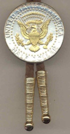 Kennedy 0.5 dollar reverse Gold tie