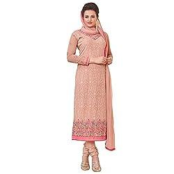 Momai Creation Women's Faux Georgette Pink Unstitched Dress Material (MCV-Prachi-1004)